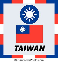 Official ensigns, flag and coat of arm of Taiwan