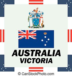 Official government elements of Australia - Victoria island