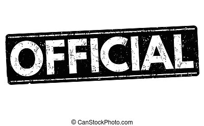 Official grunge stamp - Official grunge rubber stamp on...