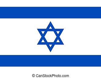 Official Israel flag vector illustration on a white...