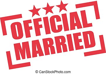 Official married stamp