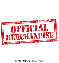 Official Merchandise-stamp - Grunge rubber stamp with text ...