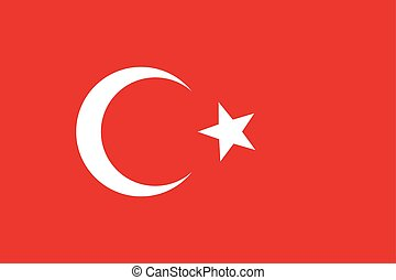 Official national flag of Turkey