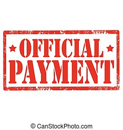 Grunge rubber stamp with text Official Payment, vector illustration
