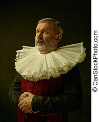 Official portrait of historical governor from the golden...
