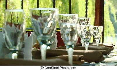 Official reception - On the table, neatly displayed cutlery.