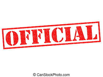 OFFICIAL red Rubber Stamp over a white background.