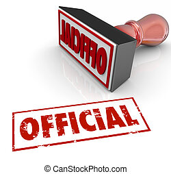 Official Stamp Word Authenticate Approve Authorized