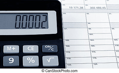 Official tax form with calculator.