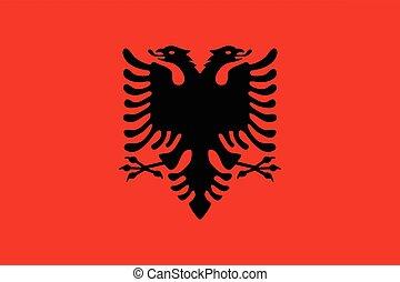 Official vector flag of Albania