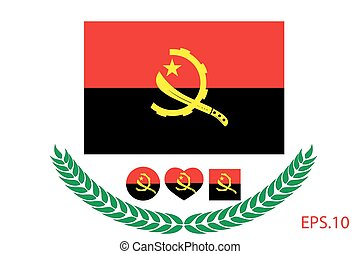 Official vector flag of Angola. Eps.10