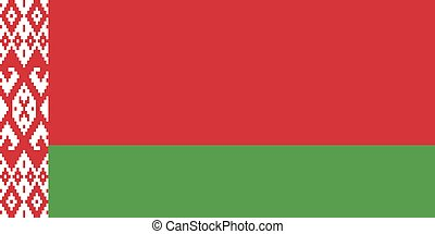 Official vector flag of Belarus .