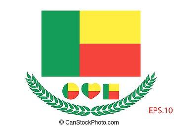 Official vector flag of Benin. Eps.10