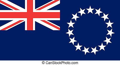 Official vector flag of Cook Islands .