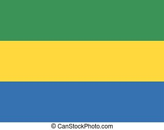 Official vector flag of Gabon . Gabonese Republic .