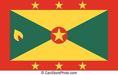 Official vector flag of Grenada .