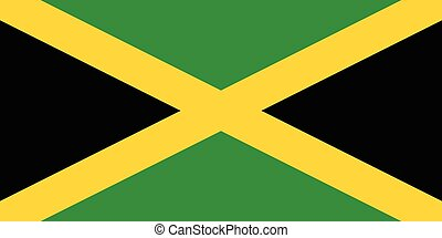 Official vector flag of Jamaica .