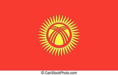 Official vector flag of Kyrgyzstan . ( Kyrgyz Republic )