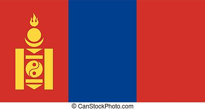 Official vector flag of Mongolia .
