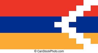 Official vector flag of Nagorno-Karabakh Republic .