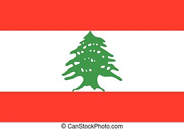 Official vector flag of Republic of Lebanon .
