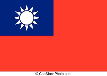 Official vector flag of Taiwan .
