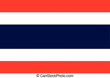 Official vector flag of Thailand .