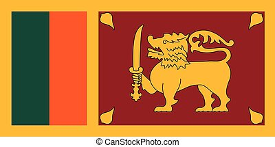 Official vector flag of the Democratic Socialist Republic of Sri Lanka .