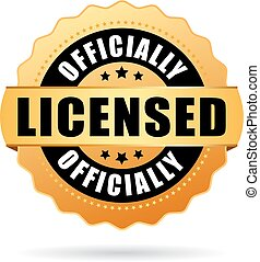 Officially licensed gold seal vector illustration