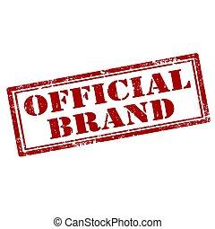 officiel, brand-stamp
