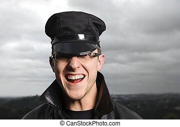officier, heureux