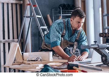 officina, carpentiere, lavorativo, bello