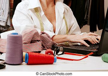 officina, cucito donna, lavorativo