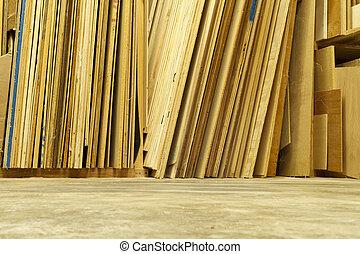 officina, legno compensato, fogli