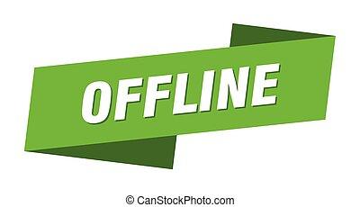 offline banner template. offline ribbon label sign