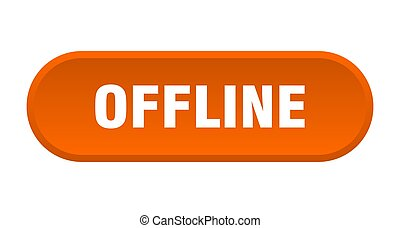 offline button. rounded sign on white background - offline ...