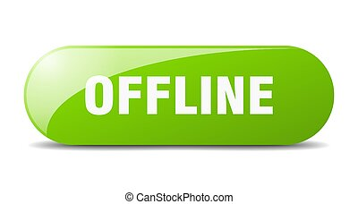 offline button. sticker. banner. rounded glass sign - ...