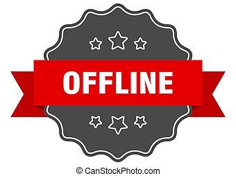 offline label. offline isolated seal. sticker. sign - ...