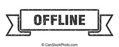 offline ribbon. offline grunge band sign. offline banner