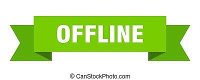 offline ribbon. offline paper band banner sign