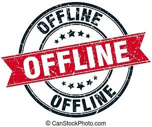 offline round grunge ribbon stamp