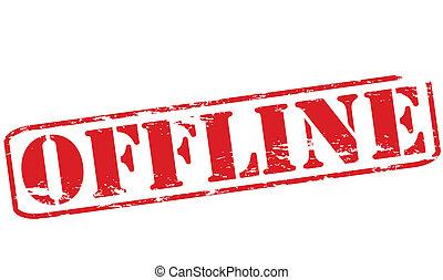 Offline - Rubber stamp with word offline inside, vector ...