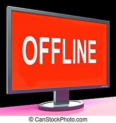 Offline Screen Showing Internet Communication Status Disconnected