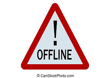 Offline sign illustration on white background
