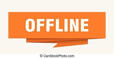 offline sign. offline paper origami speech bubble. offline ...