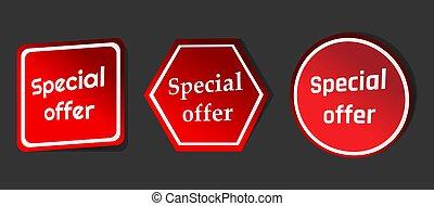 offre, spécial, marque vente