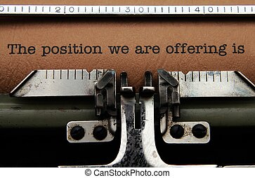 offre travail, lettre
