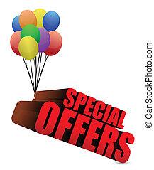 offres, 3d, spécial, signe