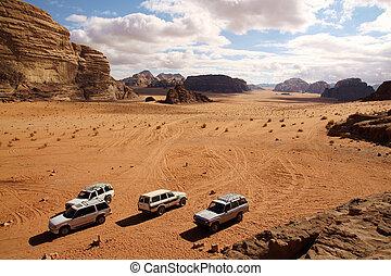 Offroad advendure in Wadi Rum desert, Jordan