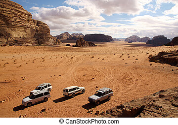 offroad, advendure, in, wadi-rum